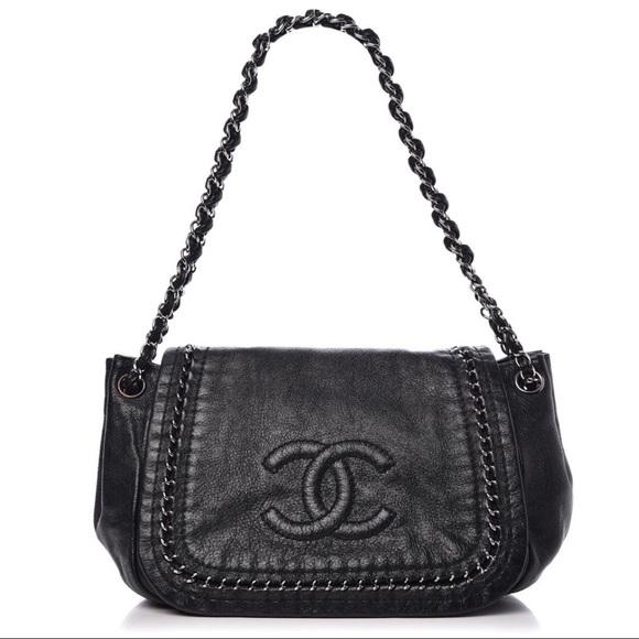 CHANEL Handbags - {CHANEL} Luxe Linge Flap Bag